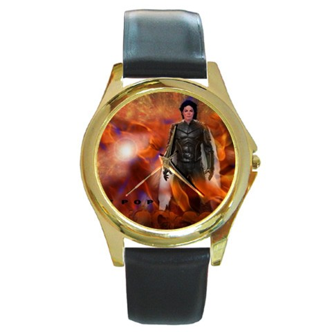 HLYwmichael-jackson-king-of-pop-gold-watch-black-leather