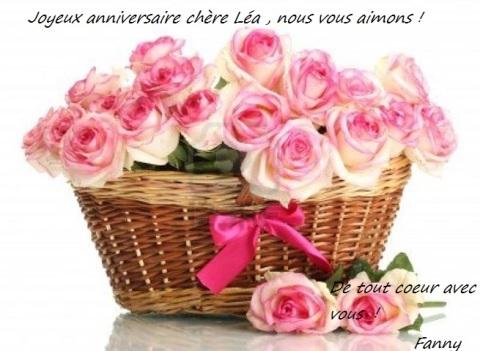 Bon anniversaire ma chère Léa